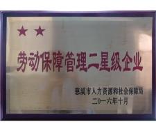 Labor security management two-star enterprises